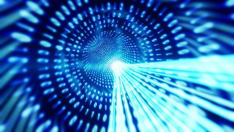 Data Tunnel Animation