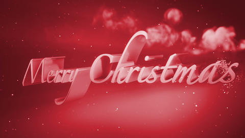 xmass Titles Red Animation