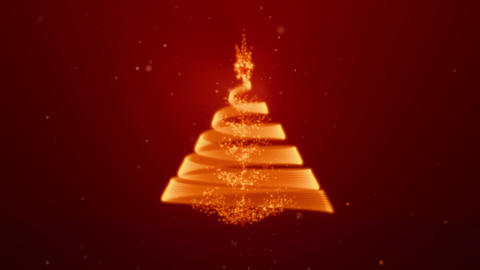 Xmasstree Lights Red Stock Video Footage