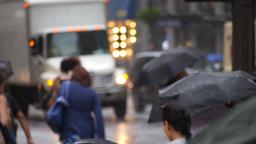 Rainy New York Streets Stock Video Footage