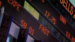 Times Square Ticker stock footage