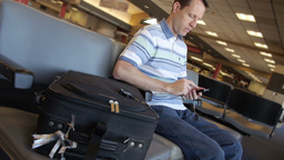 Man at Airport Stock Video Footage