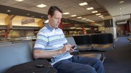 Man at Airport Footage
