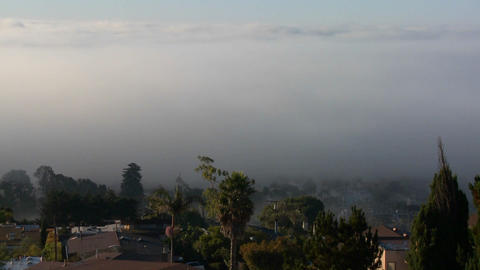 Fog rolls into neighbors in Southern California in Footage