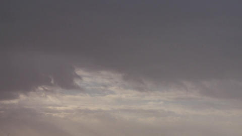 Very nice footage of many layers of clouds moving Stock Video Footage