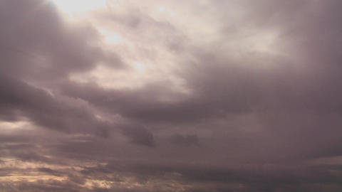 Many layers of storm clouds move in different dire Footage