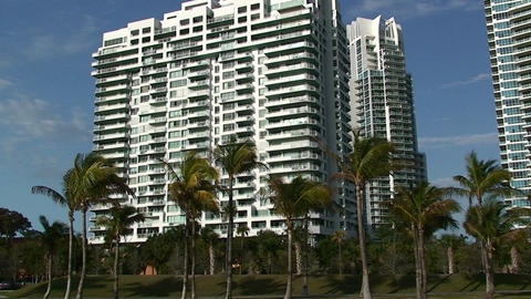 A condominium in Miami Stock Video Footage