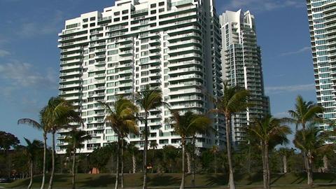 A condominium in Miami Stock Video Footage