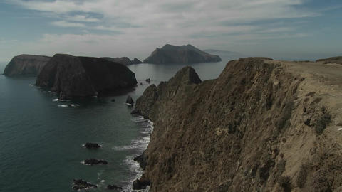 An establishing shot of Channel Islands National P Stock Video Footage