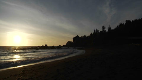 Sunset along the Oregon coast Stock Video Footage