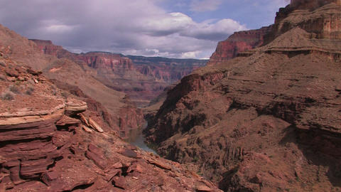 A view along the Grand Canyon in Arizona Footage