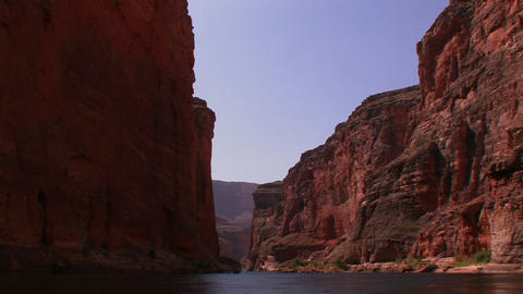 A view along the Colorado River in the Grand Canyo Stock Video Footage