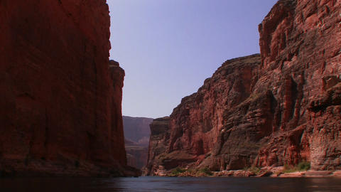 A view along the Colorado River in the Grand Canyo Footage