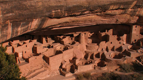 American Indian dwellings at Mesa Verde National P Stock Video Footage