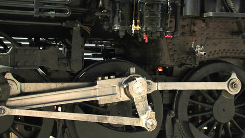 The gears of a steam locomotive Footage