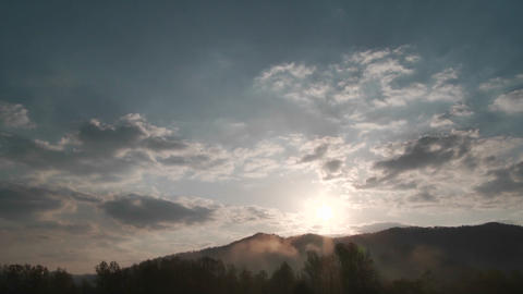 Beautiful cloud formations in time lapse Stock Video Footage