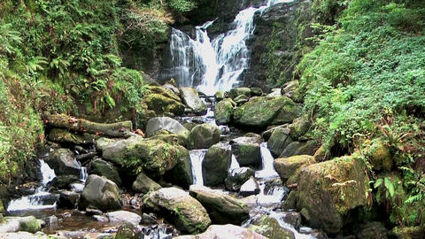 scenic waterfall in killarney national park, irela Stock Video Footage