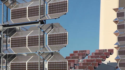 Reflector Of Solar Power Station. Close Up stock footage