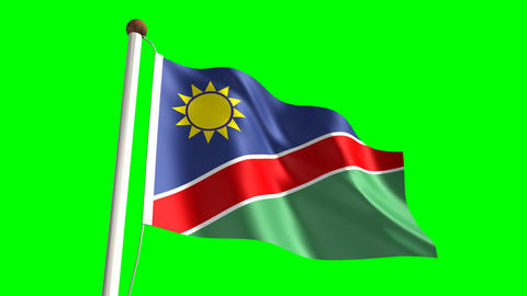 Namibia flag Stock Video Footage