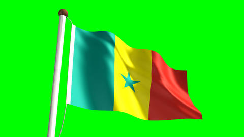 Senegalese flag Animation