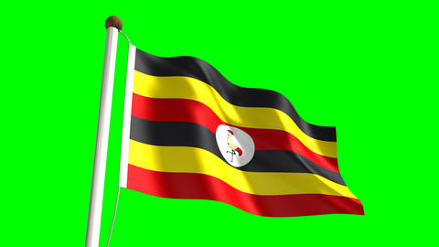 Uganda flag Animation
