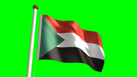 Sudan flag Stock Video Footage