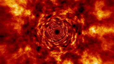 Fire Tunnel Rotating Vortex Fly Through Background Stock Video Footage
