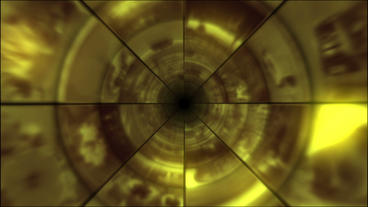 Video Clips Tunnel Vortex Gold 24P Animation
