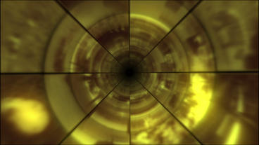 Video Clips Tunnel Vortex Gold 24P Stock Video Footage