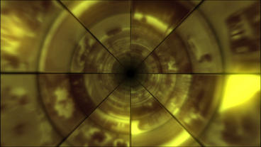 Video Clips Tunnel Vortex Gold 30P Animation