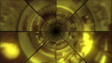 Video Clips Tunnel Vortex Gold 30P Stock Video Footage
