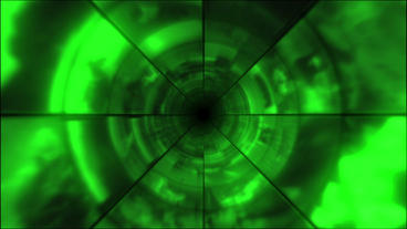 Video Clips Tunnel Vortex Green 25P Stock Video Footage