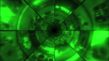 Video Clips Tunnel Vortex Green 25P Animation