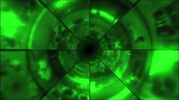 Video Clips Tunnel Vortex Green 25P Animation