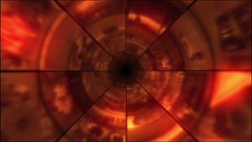 Video Clips Tunnel Vortex Red 24P Animation