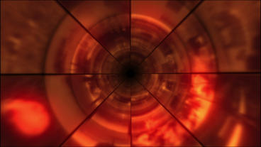 Video Clips Tunnel Vortex Red 24P Stock Video Footage