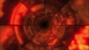 Video Clips Tunnel Vortex Red 30P Stock Video Footage