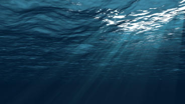 Realistic Underwater Simulation With Angled Sun Ra Stock Video Footage