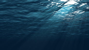 Realistic Underwater Simulation With Angled Sun Ra Animation
