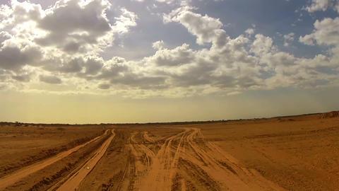 Speed Desert Car Trip 01 Stock Video Footage