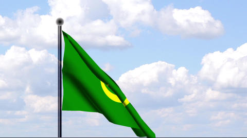 Animated Flag of Mauritania / Mauretanien Stock Video Footage