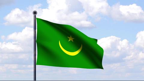 Animated Flag of Mauritania / Mauretanien Animation