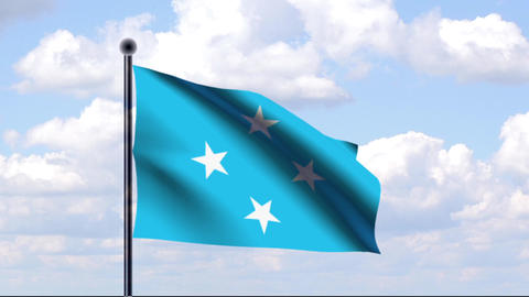 Animated Flag of Micronesia / Mikronesien Animation