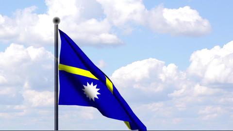 Animated Flag of Nauru Stock Video Footage