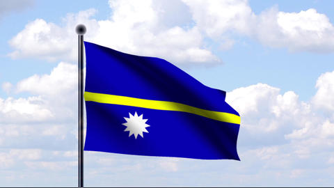 Animated Flag of Nauru Stock Video Footage