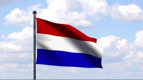 Animated Flag of Netherlands / Niederlande Animation