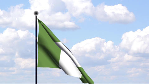 Animated Flag of Nigeria Stock Video Footage