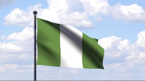 Animated Flag of Nigeria Animation