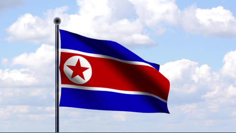 Animated Flag of North Korea / Nordkorea Animation
