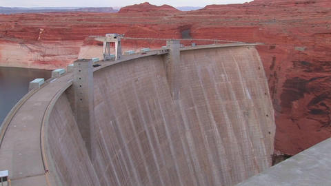 Red rocks in the Glen Canyon Dam in Arizona Stock Video Footage